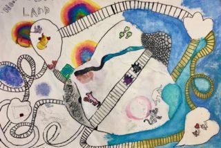 Expositie van kinderkunst uit de Noordoostpolder